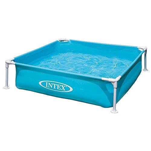 Intex Kinderpool Frame Pool Mini Blau 122 x 122 x 30 cm
