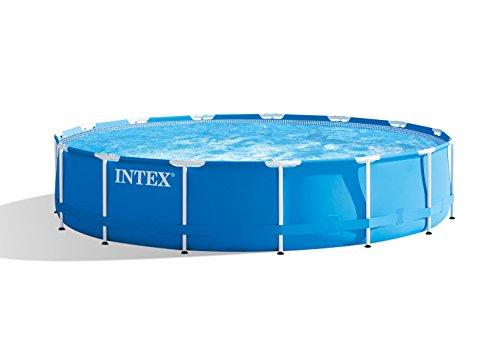 Intex Metal Frame Pool Set 457 x 84cm  blau