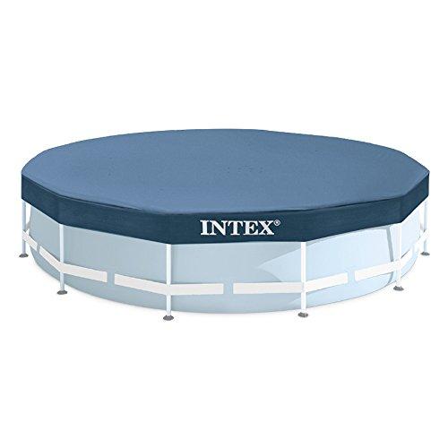 Intex Abdeckplane für Frame-Pool schwarz 305 cm Überhang 25 cm
