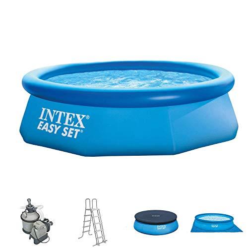 Intex 305x76 cm Easy Pool 281222 Komplettset incl Sandfilteranlage Leiter A- und Uplane