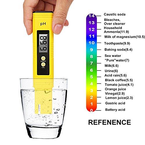 Bioeilife pH-Messgerät digital pH-Messgerät Mini-Wasserqualitätstester für Trinkwasser Hydrokultur Aquarien Schwimmbäder