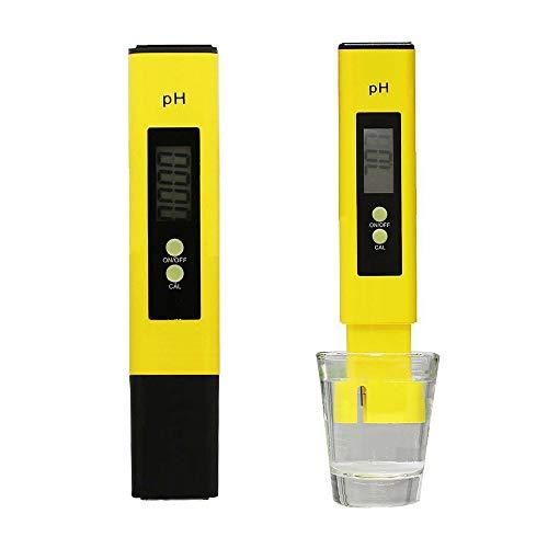 TJW Digitaler pH-Messgerät elektrisch Taschenformat digital pH-Messgerät Hydrokulturstift mit Batterie für Trinkwasser Schwimmbecken Spas Aquarium Hydrokultur