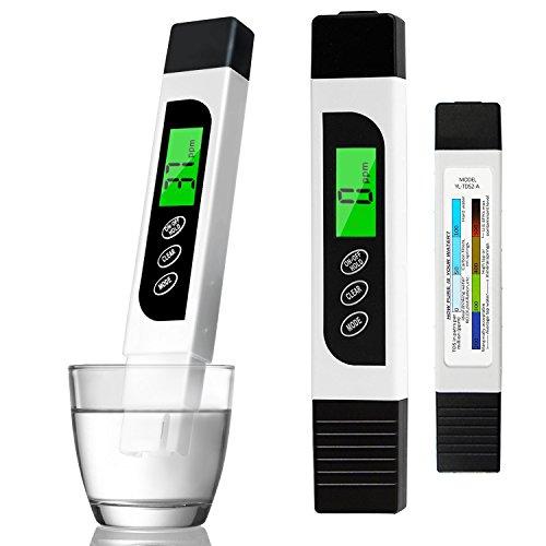Wasserqualitätstest Meter genaues TDS Messgerät EC Messgerät und Temperaturteststift mit LCD für Trinkwasser Hydrokultur Schwimmbäder Aquarien