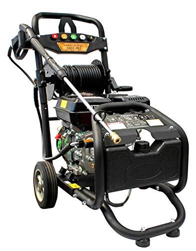 Benzin Hochdruckreiniger mit Schlauchtrommel  max 220 bar - 3200 PSI  7 PS Motor mit 210 ccm  Reinigungsmaschine mit 5 Düsen
