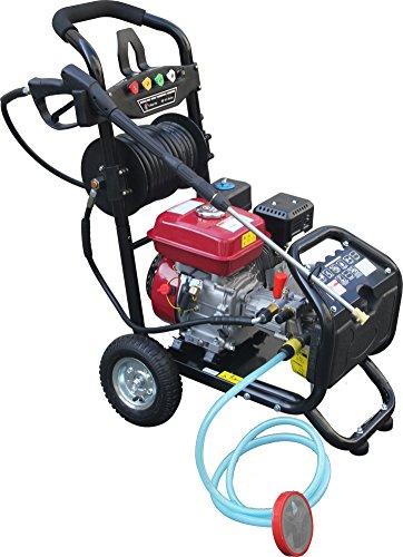 Dealourus Benzin-Hochdruckreiniger – 80 PS 3950 psi Awesome Power T-MAX PRO 20 Meter Schlauch 5 Bonus Druckdüsen Plus gratis Turbo Düsensprüher