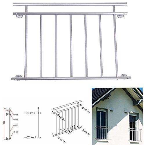 Paneltech 100128  184 x 90cm Durable Französischer Balkon Balkongeländer Edelstahl Französisch Edelstahl Balkon Geländer KorridorFenster Fencing Balustrade Treppenhandlauf 184cm