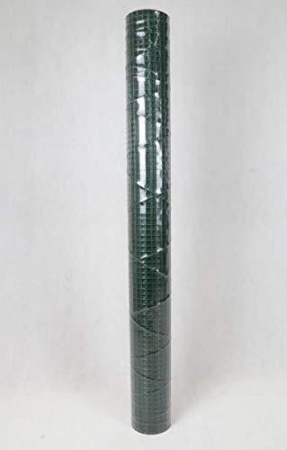 Drahtgitter 1m x 5m verzinkt und PVC-beschichtet grün viereckgeflecht Maschenweite 13mm punktgeschweißt Kaninchendraht Käfigdraht Drahtzaun Kleintierzaun Volierendraht Drahtgeflecht TD01
