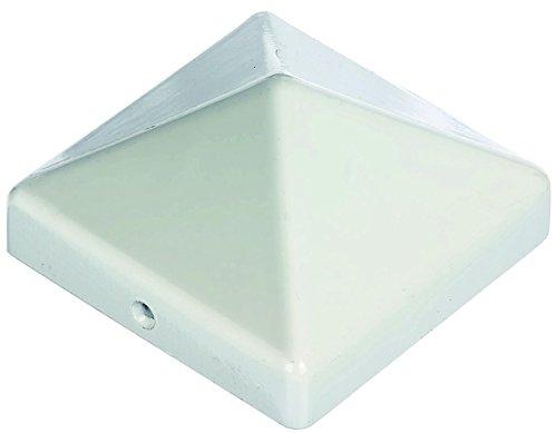 Premium Pfostenabdeckung für Pfosten 90x90 mm aus Aluminium weiß