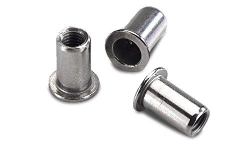 10 Stück Blindnietmuttern M8  Nietmuttern M8  Einnietmuttern aus Aluminium zur Befestigung von zB Doppelstabmatten am Zaun-Pfosten