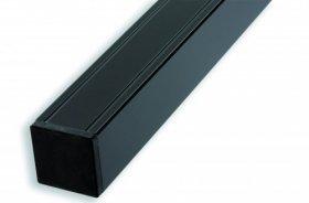 Ligna-Gard 68x68x2720 mm Aluminium Pfosten mit innenliegendem Holzkern anthrazit pulverbeschichtet