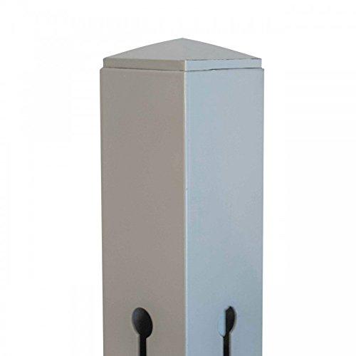 Videx-Aluminium-Pfosten Stockholm beige H 160 x B 9 cm