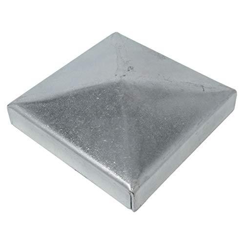3 x SO-TOOLS Pfostenkappe Pyramide Stahl verzinkt Abdeckkappe für Pfosten 50 x 50 mm