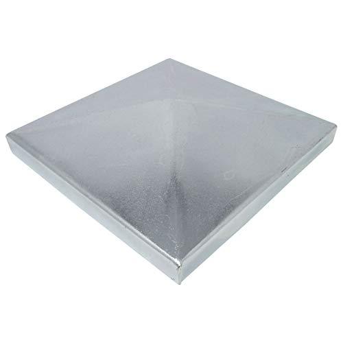 4 x SO-TOOLS Pfostenkappe Pyramide Stahl verzinkt Abdeckkappe für Pfosten 120 x 120 mm