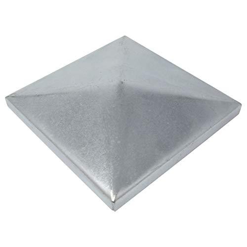 5 x SO-TOOLS Pfostenkappe Pyramide Stahl verzinkt Abdeckkappe für Pfosten 100 x 100 mm