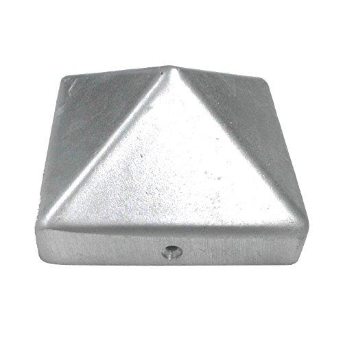Connex HV4326 Pfostenkappen Pyramide 90 x 90 mm Aluminium