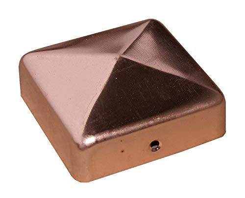 Pfostenkappe Zaunkappe Pyramide Kupfer 91 x 91 mm
