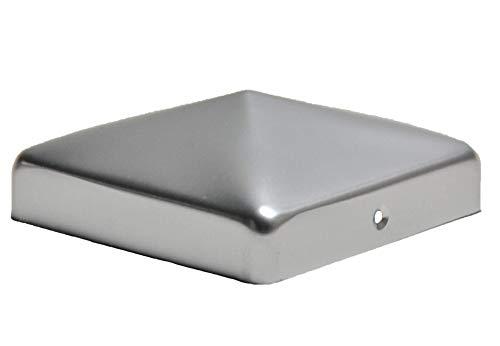 Pfostenkappe aus Aluminium Pyramide für Pfosten 12x12 cm inkl VA-Schrauben Zaunkappe Pfahlkappe ALU 121x121 mm DD