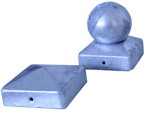 Pfostenkappe verzinkt 121 mm Pyramide Abdeckkappe für Pfosten 12x12cm