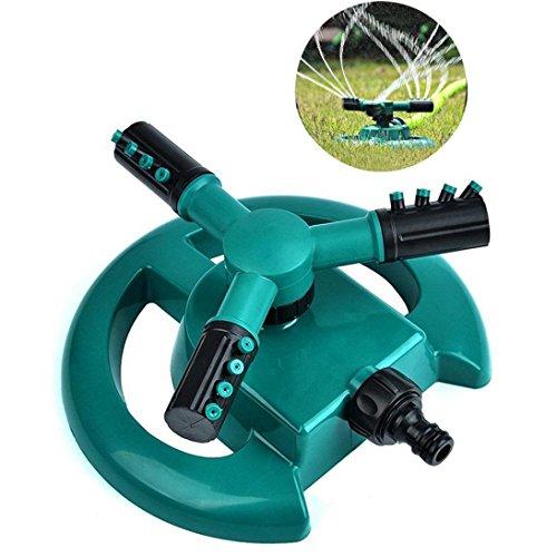 Rasensprenger Garten Sprinkler - Automatische Rasen Wasser Sprinkler 360° Rotierende Sprinkler System für gleichmäßige Bewässerung durch drehbare Präzisions Düsenköpfe