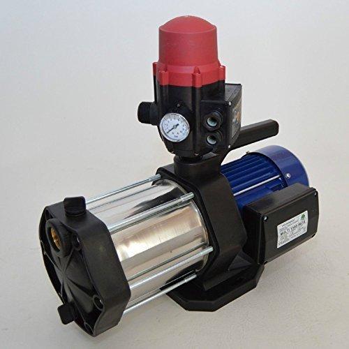 Hauswasserautomat Gartenpumpe 5-stufig Multi 1300 INOX 1300Watt Förderleistung 5400 Lh 6 bar robuste und rostfreie Edelstahlwelle integrierter thermischer Motorschutzschalter  Pumpensteuerung Brio SK13 mit Trockenlaufschutz