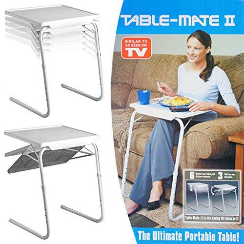 Beistelltisch verstellbar zusammenklappbar für TV  Abendessen  Laptop  Reisen  Bett  Tablett  Schreibtisch