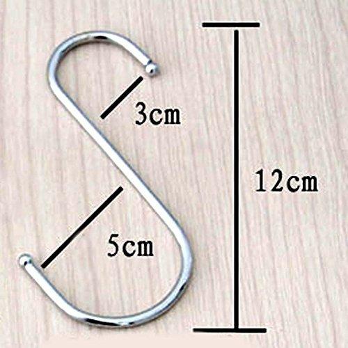 Rcdxing tragbar S-Form Haken Metall Aufhängen hooks-large