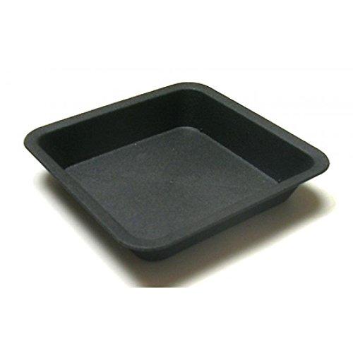 Pflanztopf-Untersetzer quadratisch ca 19x19cm aus schwarzem Kunststoff UV- und frostbeständig