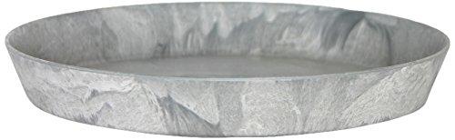 Artstone Untersetzer rund frostbeständig und leichtgewichtig 30 x 4 cm grau