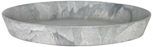 Artstone Untersetzer rund frostbeständig und leichtgewichtig 32 x 5 cm grau