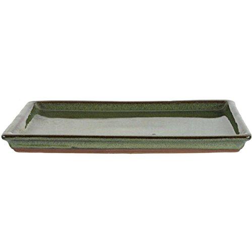 Bonsai Untersetzer 25x20x2cm Grün Rechteckig