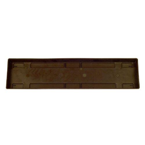 Ebertsankey 1002742 Blumenkasten-Untersetzer Universal Kunststoff rechteckig S 100 x 15 x 3 cm braun 1 Stück