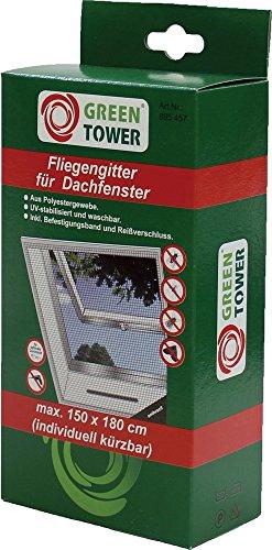 GREEN TOWER Fliegengitter 150X180cm Anthrazit Für Dachfenster