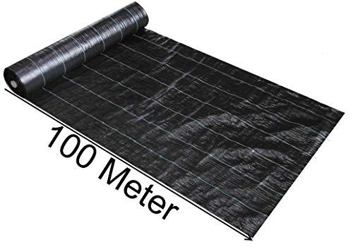 EXCOLO 100 m x 15 m Breit  150 m² Bändchengewebe unkrautvlies Unkraut Schutz Gewebe Bodengewebe Unterbodengewebe Geotextil Bändchenfolie Unkrautgewebe Unkrautschutzfolie 100gm²