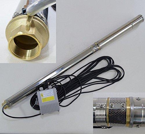 Edelstahl Tiefbrunnenpumpe 3 74 mm bis 4200lh 075kW 83 bar sandresistent 75QJD224-075  3 SDM 075 kw