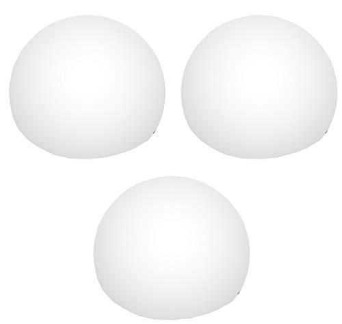 3 LED Schwimmkugel Kugel Kugelleuchte Schwimmleuchte Wasserdicht für Bad Pool Teich Garten 8 cm Weiß von PK Green
