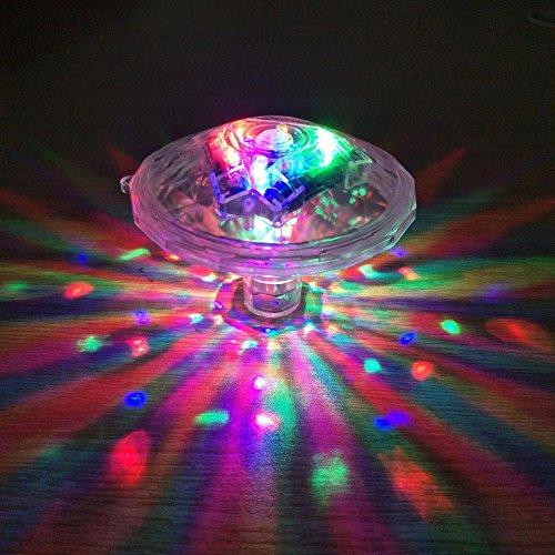 AZX LED Unterwasserlicht Badewannenlicht Teich Pool Bunte Schwimmende Lampe Wasserdicht Party Glow Nachtlichter Unterwasser Disco Beleuchtung Licht 7 Beleuchtung Modi