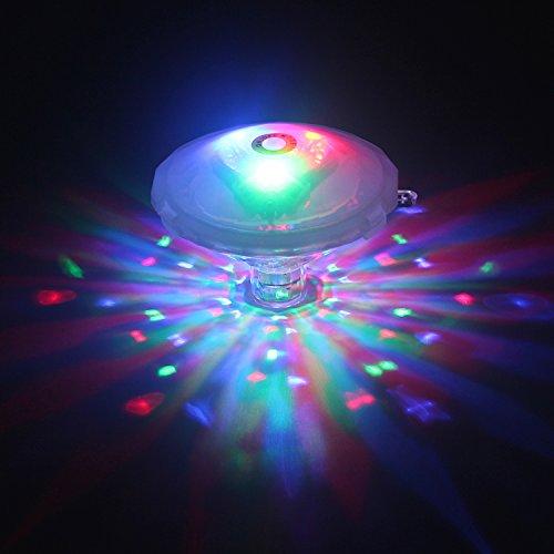 HYDONG Unterwasser Licht Multifarbige LED Pool-Beleuchtung mit RGB und 7 Modi Disco Beleuchtung Licht Badewanne LED Spielzeug Für Den Teich Pool Spa Oder Whirlpool Batterie Nicht Enthalten