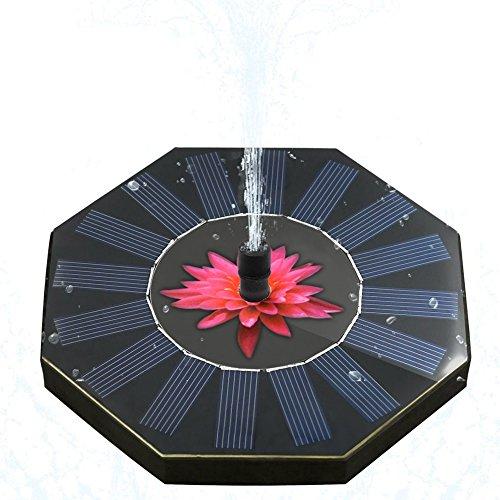 MRCARTOOL Wasserpumpe Solarbrunnen Pumpe Kreis Garten Solar Power Schwimmende Brunnenpumpe für Outdoor Bewässerung Tauchpumpe für Teich Pool Garten Aquarium Aquarium