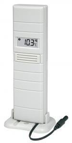 Technoline TX25 Außen-Sensor mit Messsonde Sender Pool-Teich-Thermometer weiß mit Batterien