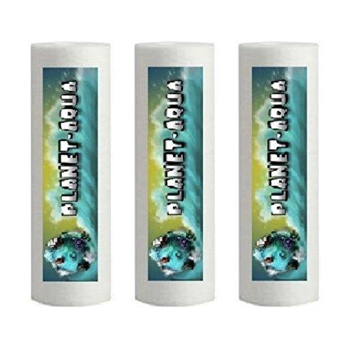 Planet-Aqua 3 x Sediment Filterkerze in 10 Zoll Größe mit 50 Mikron Feinheit aus Polypropylen als Filter Kartusche für die Osmoseanlage Umkehrosmose Wasserfilter Osmose Aquarium Wasser