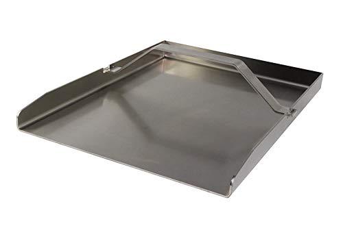 Brennstorm universale Edelstahl Grillplatte mit Griff BBQ Plancha 30  40cm Grillblech rechteckig