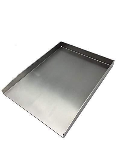 tradeNX Grillplatte  Plancha  Grillblech  Massiv  Edelstahl 40x30cm