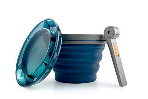 GSI Outdoors Faltbarer Becher mit Klappgriff Blau 79202