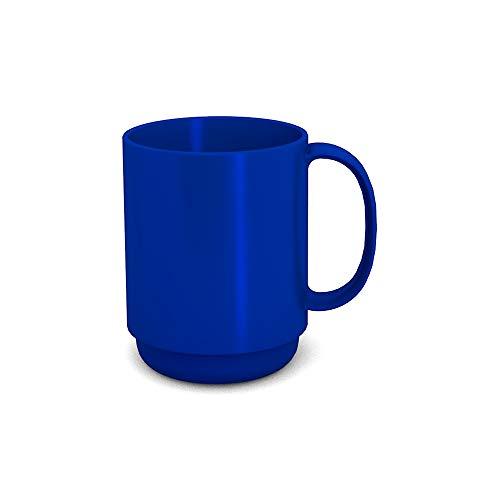 Ornamin Becher mit Henkel 300 ml blau Modell 510  Mehrweg-Becher Kunststoff Kaffeebecher