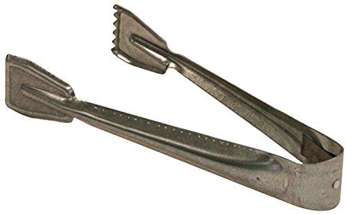 Kamino Flam Brikettzange in Silber verzinkt Kohlezange für Kamin Ofen oder Grill einfache Kaminzange ohne Doppelgelenk für Briketts und Kohle Maße ca 9 x 215 x 35 cm