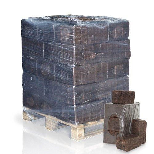 PALIGO Rindenbriketts Ruf Kiefernrinde Gluthalter Dauerbrenner Kamin Ofen Brenn Holz Heiz Brikett 12kg x 25 Gebinde 300kg  1 Palette Heizfuxx