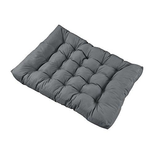 encasa 1x Sitzkissen für Euro-Paletten-Sofa Hellgrau Palettenkissen Auflage inOutdoor Polster Möbel