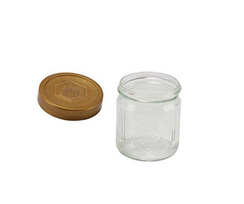 Germerott Bienentechnik Deutsche Imkerbund Gläser DIB Glas für 500g inkl Deckel Verpackungseinheit 60 Stück Preis Pro Glas 069 Euro