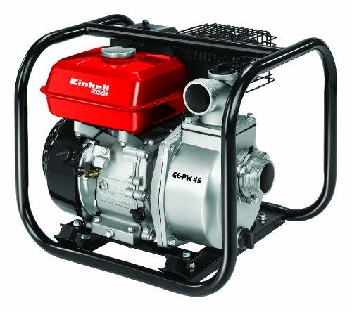 Einhell Benzin Wasserpumpe GE-PW 45 48 kW max 23000 lh max Förderhöhe 26 m inkl umfangreiches Adapter-Zubehör und Saugkorb