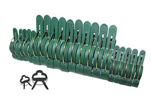 100 Pflanzenclips Pflanzenklammern Pflanzenhalter Pflanzenbinder Rankhilfen in 2 Größen 50 große  50 kleine